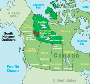South Nahanni Outfitters Ltd - Map